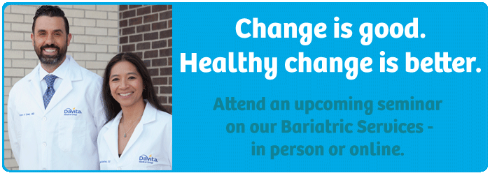 Join us for an upcoming seminar on our Bariatric services!